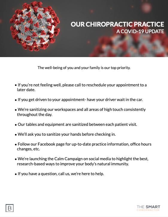 COVID-19 NY Chiropractic office precautions